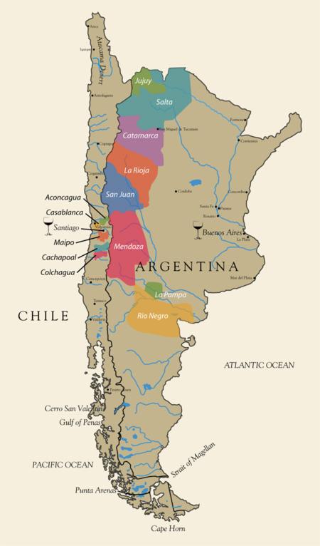 carte des vins d argentine